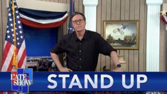 Amerikai elnök választás 2020, A LATE-show STAND UP Colbert.