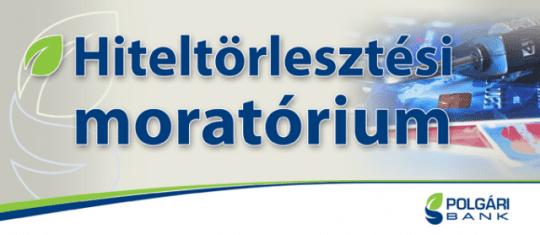 Bankhitel, banki-hitel moratórium ráfizetés-hiteltörlesztési_moratórium