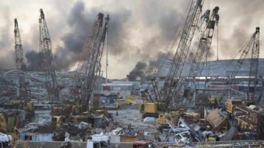 bejruti pusztító robbanás