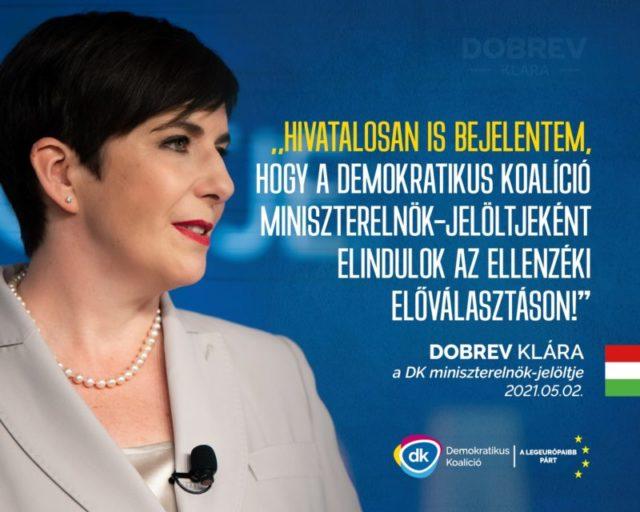 Az egyik leginkább biztos miniszterelnök jelölt tegnapi bejelentése után Dobrev Klára a DK színeiben