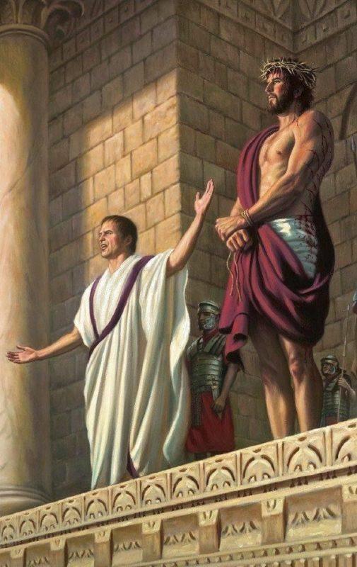 Jézus pere Pilátus és Heródes előtt kihallgatás Íme az Ember Jézus