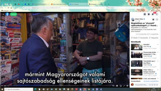 Sajtószabadság az ujságosnál van nem veszett el mondja Orbán Viktor