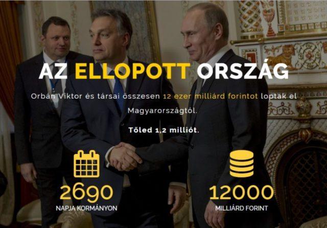 Orbán törvényesítette a közvagyon ellopását és a magyar állam funkcióinak eltörlését ellopott ország