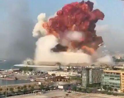 bejrúti pusztító robbanás